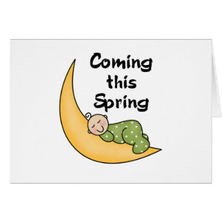 Baby on Moon Spring Card