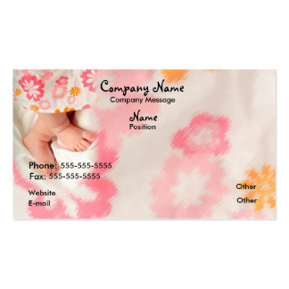 Baby on Pink Business Card