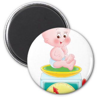 Baby on scale magnets