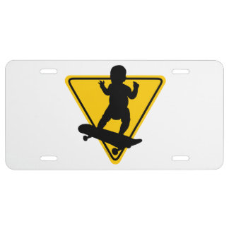 Baby on (Skate) Board License Plate