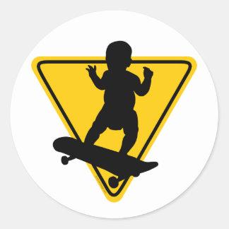 Baby on Skate Board Sticker