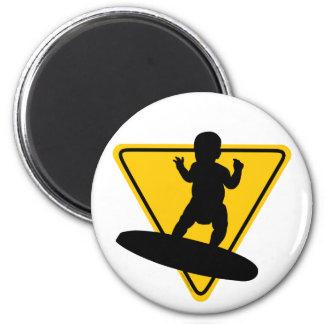 Baby on (Surf) Board 2 Inch Round Magnet