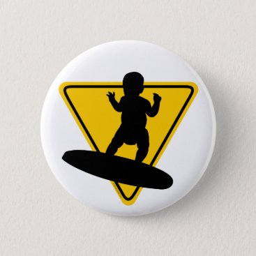 Toddler & Baby themed Baby on (Surf) Board Button