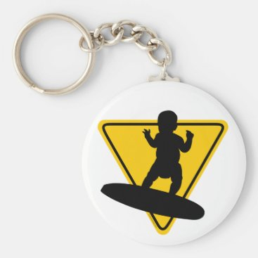 Toddler & Baby themed Baby on (Surf) Board Keychain