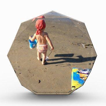 Beach Themed Baby on the beach acrylic award