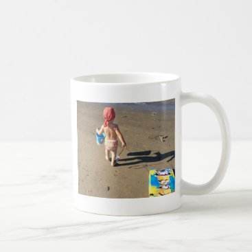 Beach Themed Baby on the beach coffee mug