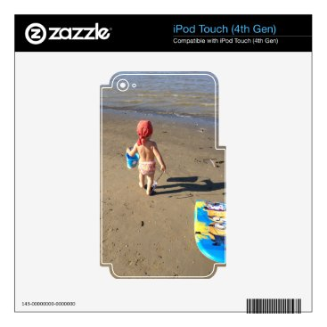 Beach Themed Baby on the beach decal for iPod touch 4G