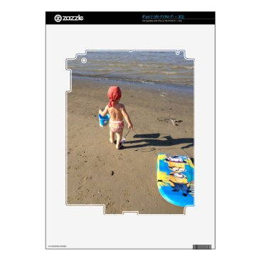 Beach Themed Baby on the beach iPad 2 decal