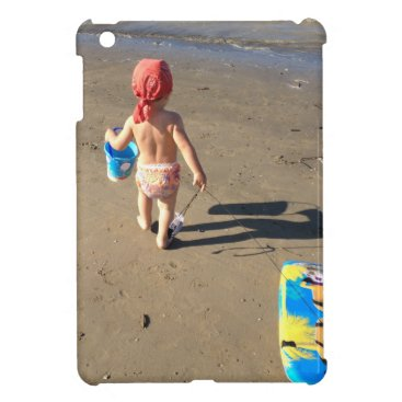 Beach Themed Baby on the beach iPad mini cases