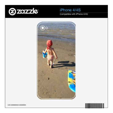 Beach Themed Baby on the beach iPhone 4S decal
