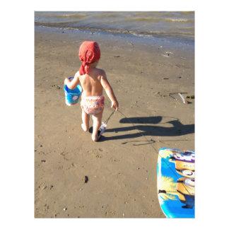 Baby on the beach letterhead