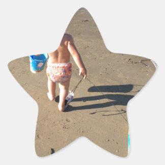 Baby on the beach star sticker