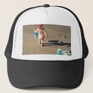 Baby on the beach trucker hat