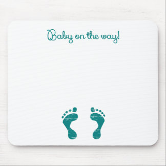 BABY ON THE WAY BLUE.png Mouse Pad