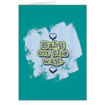 Baby on the Way - boy Greeting Cards