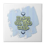 Baby on the Way - boy Tiles