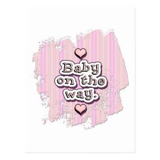 Baby on the Way - girl Postcard