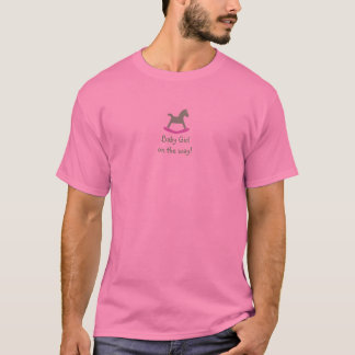 Baby On the Way Pink & Green Rocking Horse Tshirt