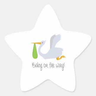 Baby On The Way Star Sticker