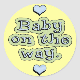 Baby On The Way Classic Round Sticker