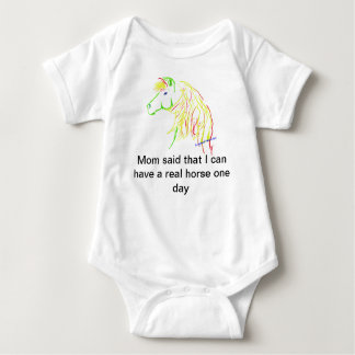 Baby onesy, creeper with horse artwork