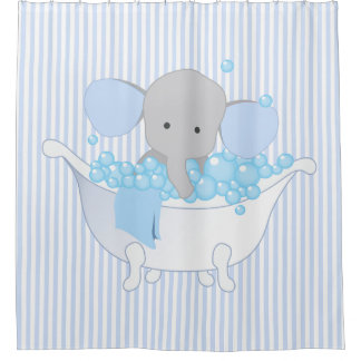 baby or room elephant shower curtain