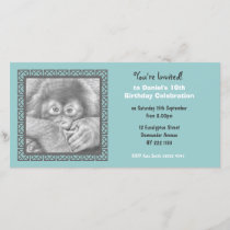 Baby Orangutan Birthday Invitation Photo Card