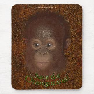 Baby Orangutan Face Wildlife-support Mousepad