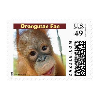 Baby Orangutan Fan Postage