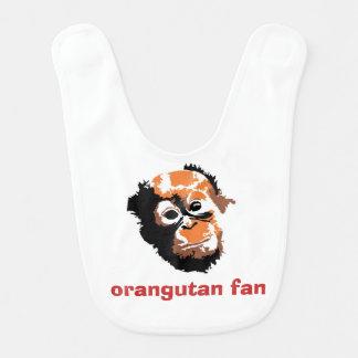 Baby Orangutan Fan Bibs