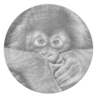 Baby Orangutan Plate
