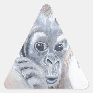 Baby-Orangutan Triangle Sticker