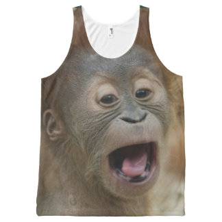 Baby Orangutan Up Close and Adorable All-Over-Print Tank Top