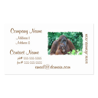 Baby Orangutan with Mother Businses Cards Double-Sided Standard Business Cards (Pack Of 100)