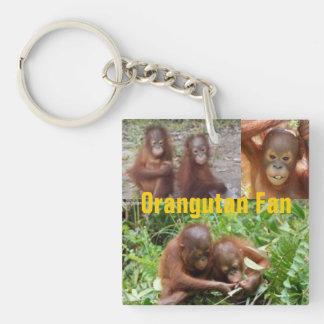 Baby Orangutans in Borneo Single-Sided Square Acrylic Keychain