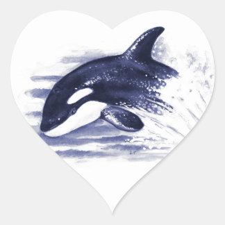 Baby Orca Jump Heart Sticker