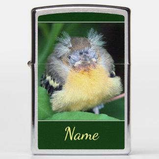 Baby Oriole Bird Personalized Animal Zippo Lighter