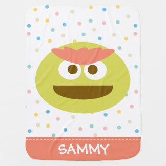 Baby Oscar the Grouch Face | Add Your Name Swaddle Blanket