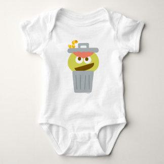 Baby Oscar the Grouch in Trashcan Baby Bodysuit