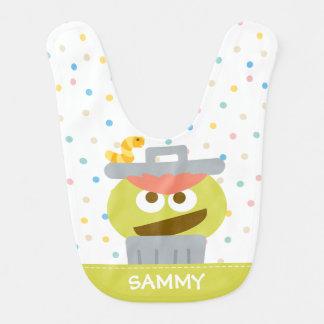 Baby Oscar the Grouch in Trashcan Bib