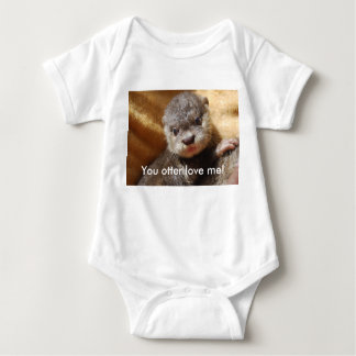Baby otter pup infant jersey baby bodysuit