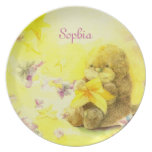 Baby Otter & Starfish Personalized Baby Gift Dish Party Plate