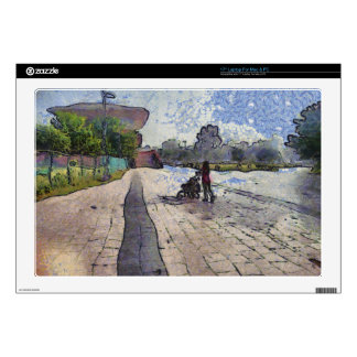 """Baby out for a stroll.jpg 17"""" laptop skin"""