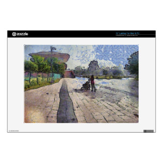Baby out for a stroll laptop skin