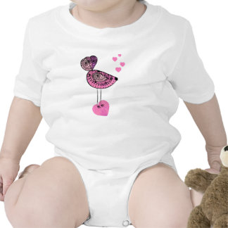 Baby Outfit Pink Love Bird Rompers