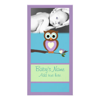 Baby Owl Announcment Card