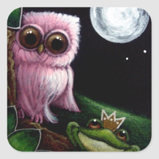 BABY OWL - BABY FROG WITH CROWN Sticker