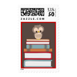 Baby Owl Book Stack Bring a Book Postage | Red