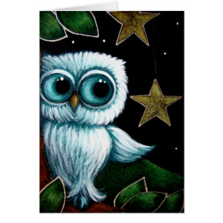 BABY OWL HANGING STARS CUSTOMIZE Card