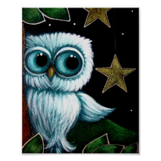 BABY OWL HANGING STARS Poster